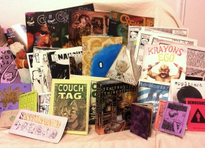 Some self-published books and mini-comics.